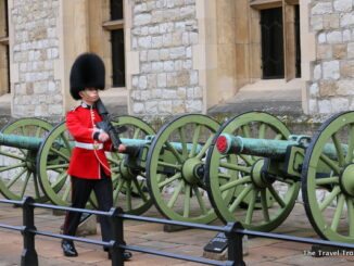 A Guard Watches Over the Tower on London