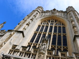 Looking up at Bath Abbey