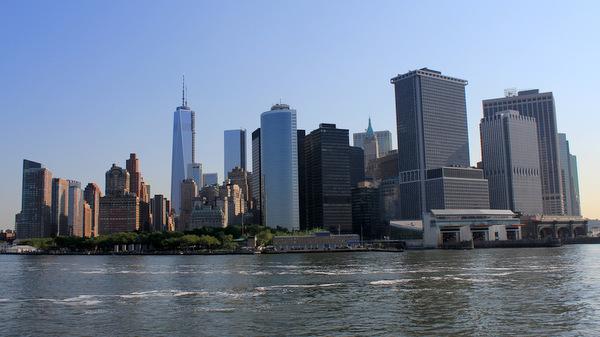 New York City Skyline From the Staten Island Ferry