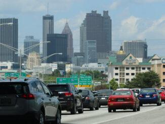 Traffic backs up in Atlanta on April 26, 2015.
