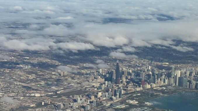 A view of Chicago from above.