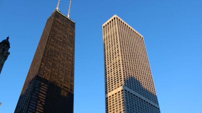 A view of the John Hancock Center, left, on Jan. 16, 2016.