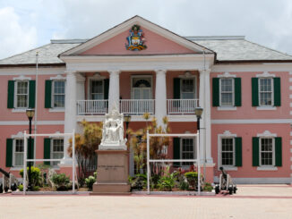 A statue of Queen Victoria, erected in 1901, stands in Parliament Square outside of Bahamian Parliament in Nassau, Bahamas, on June 13, 2015.