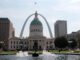 The Old Courthouse and the Gateway Arch in St. Louis