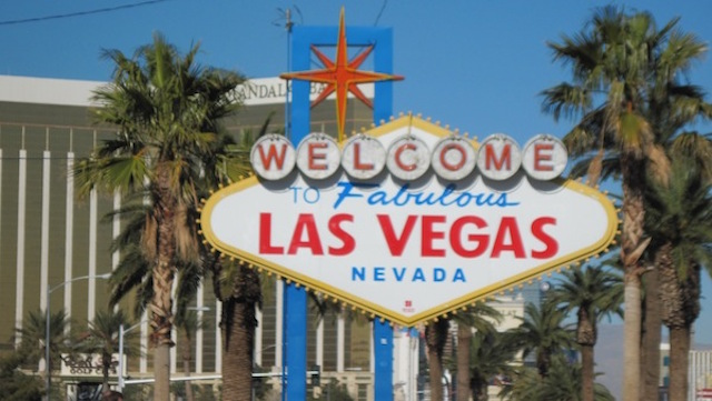 The famous welcome sign in Las Vegas