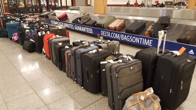 Bags at Hartsfield–Jackson Atlanta International Airport on April 7, 2017.