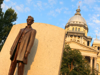 Abraham Lincoln at the Illinois State Capitol