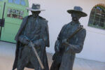 Statue of Wyatt Earp and Doc Holiday