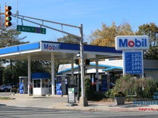 A gas station in Metuchen, N.J., in October 2017.